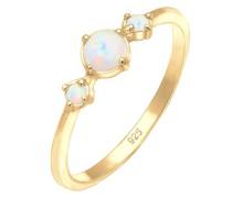 Ring Trend Bandring Trio Geo Vintage Opale 925 Silber