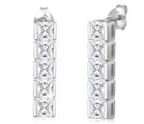 Ohrringe Ohrhänger Zirkonia Kristalle Funkelnd 925 Silber
