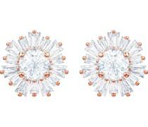 -Ohrstecker Metall Kristalle Roségold 32002127