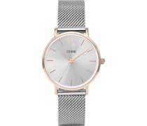 -Uhren Analog Quarz Silber/Rosé 32011688