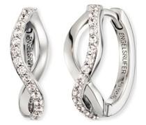 -Creolen Paradise 925er Silber rhodiniert 30 Zirkon One Size 87847209