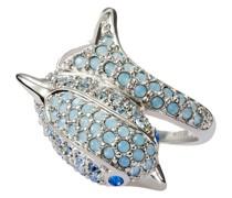 Ring Delfin Messing verziert mit Kristallen von Swarovski®