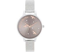 -Uhren Analog Quarz One Size Edelstahl 87885003