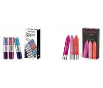 Geschenkset bestehend aus Lippenstifte und Glitter Nagellack