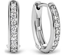 -Creolen 925er Silber Zirkonia One Size 88015355