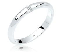Ring Klassisch Diamant (0.04 ct.) 925 Sterling Silber