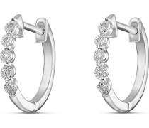 -Creolen 375er Weißgold 10 Diamant One Size 32013520