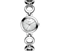 -Uhren Analog Quarz Silber/Blau 32003394