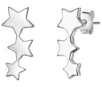 Ohrstecker Sterne Sterling Silber silber
