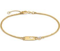 -Armband HERZ 925er Silber rhodiniert Zirkonia One Size 87685705