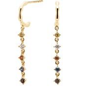 PD Paola-Creolen 925er Silber Saphir One Size 88237838