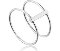 -Damenring Modern Double Ring 925er Silber 58 32014210