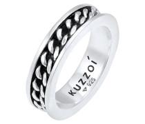 Ring Bandring Panzer Design Trend 925 Silber