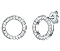 Ohrstecker Sterling Silber verziert mit Kristallen von Swarovski® in silber