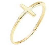 Ring Kreuz Symbol Trend Blogger 375 Gelbgold