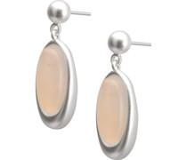 -Ohrhänger Messing Farbstein Gold, Weiß 32018269 Ohrringe
