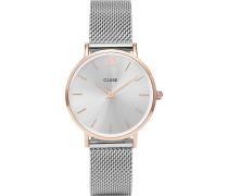 -Uhren Analog Quarz Silber/Rosé Silber/Rosé Edelstahl 32011688