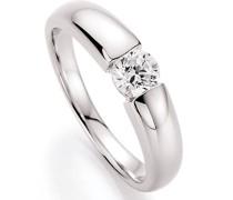 Ring glamouröse Optik mit Zirkonia, Silber 925