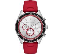 -Uhren Analog Quarz Rot Silikon 32013293