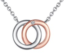 Halskette Sterling Silber Diamant silber