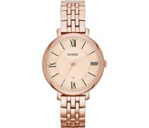 -Uhren Rund Analog Quarz Rosé Rosé Edelstahl 32003319