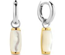 -Ohrhänger 925er Silber Farbstein Weiß 32013843