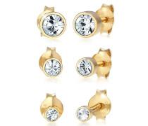 Ohrringe Stecker Set Swarovski® Kristalle Basic 925 Silber