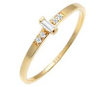 Ring Verlobung Topas Diamant (0.02 ct.) 585 Gelbgold