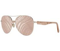 Ästhetische Sonnenbrille Gold