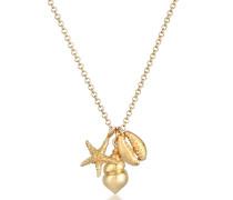 Halskette Seestern Muschel Anhänger Maritim Meer 925 Silber