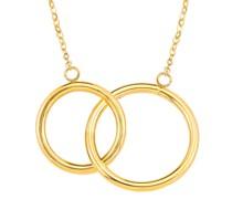 Kette mit Anhänger für, Gold 375, Kreis Ketten Weiss