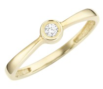 Ring mit Brillant, Gold 585