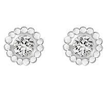 -Ohrstecker 375er Weißgold 2 Diamant One Size 87328961