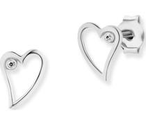 -Ohrstecker 925er Silber 2 Zirkonia One Size 87448908