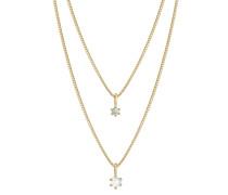 Halskette Layer Mondstein Labradorit Klassik 925 Silber