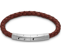 -Armband Leder, Edelstahl Schwarz 32013542