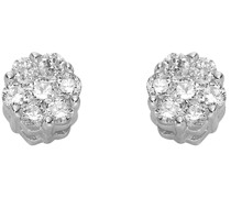 -Ohrstecker 375er Weißgold 14 Diamant One Size 87375447