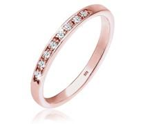 Ring Aufsteckring Funkelnd Diamant (0.04 ct) 925 Silber