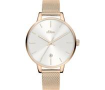 -Uhren Analog Quarz Silber Silber Edelstahl 32011631