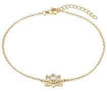 Armband Lotusblume Sterling Silber Zirkonia gelbgold Silberarmband