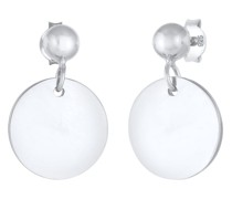 Ohrringe Ohrhänger Stecker Plättchen Glanzvoll 925 Silber