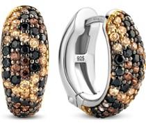 -Creolen 925er Silber Kristall One Size 88096711