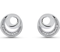 -Ohrstecker DOT 925er Silber rhodiniert 18 Zirkonia One Size 87745406