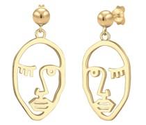 Ohrringe Ohrhänger Gesicht Design Blogger Trend 925 Silber