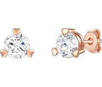 -Ohrstecker 925er Silber 1 Zirkonia Roségold 32015481