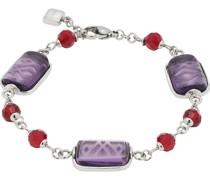 -Armband Edelstahl/Glas One Size 87565416