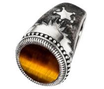 -Herrenring 925er Silber Tigerauge 68 32003881