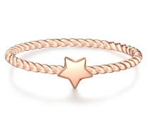 Ring Stern Sterling Silber roségold