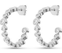Silver-Creolen Glossy 925er Silber 28 Zirkonia One Size 87744531