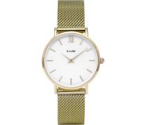 -Uhren Analog Quarz Goldfarben Goldfarben 32011680